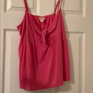 Pink knotted Mossimo Tank Top Size Medium